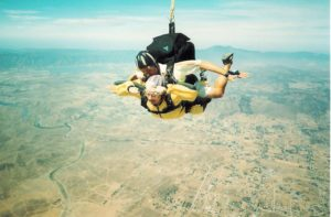 80-year-old woman sky diving